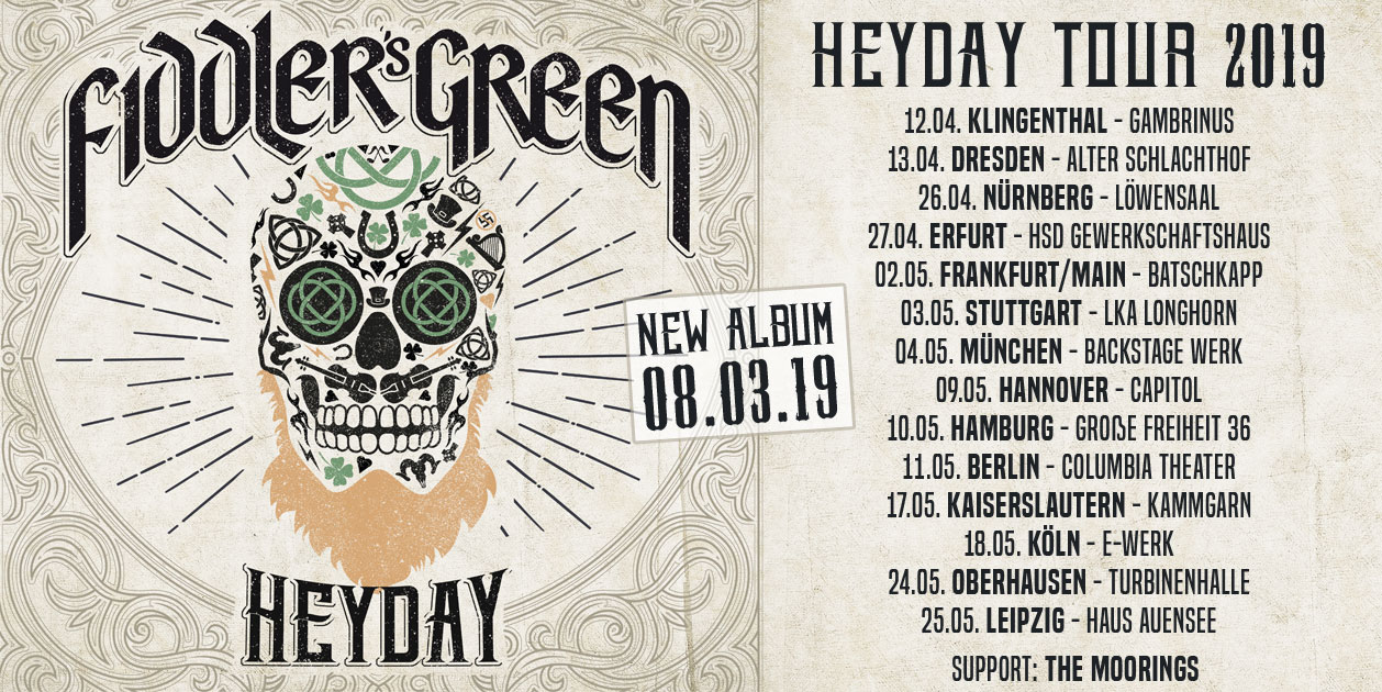 Heyday New Album And Tour 2019 Fiddler S Green Devil S Dozen En